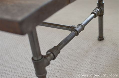 how to make a pipe desk diy rustic industrial pipe coffee a burst of beautiful