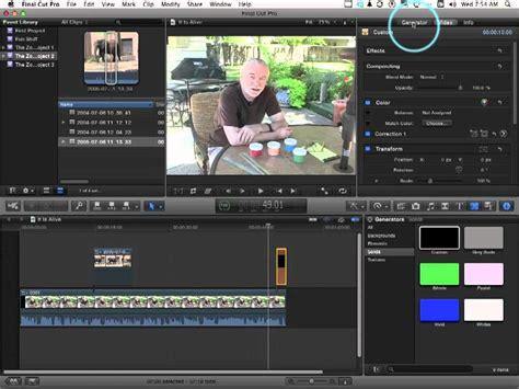 tutorial final cut pro mac apple final cut pro x tutorial how to control opacity