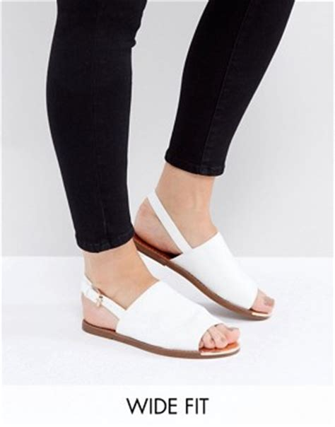 White Cath Flat Sling Back Sandals s sandals heeled sandals shoes asos