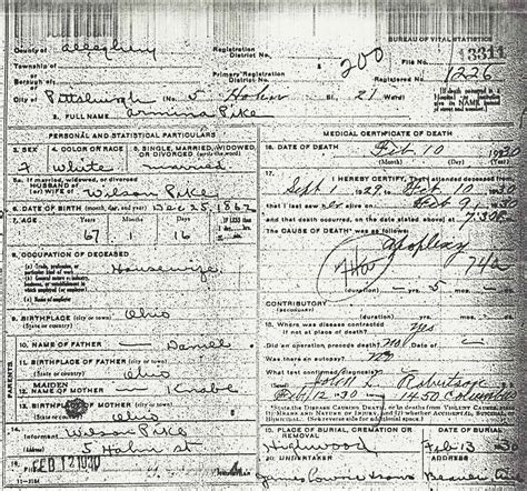 Birth Records Allegheny County Allegheny County Pagenweb Vital Records