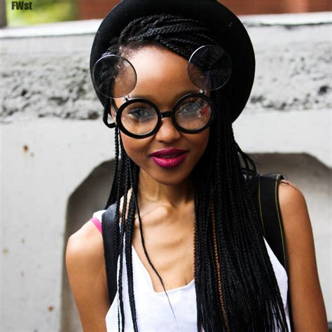 box braids with a beach hat 12 of the dopest box braids on pinterest un ruly