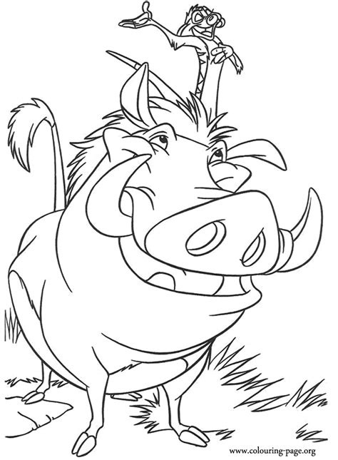 free coloring pages of how to draw pumba