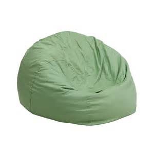 small solid green kids bean bag chair from renegade coleman furniture