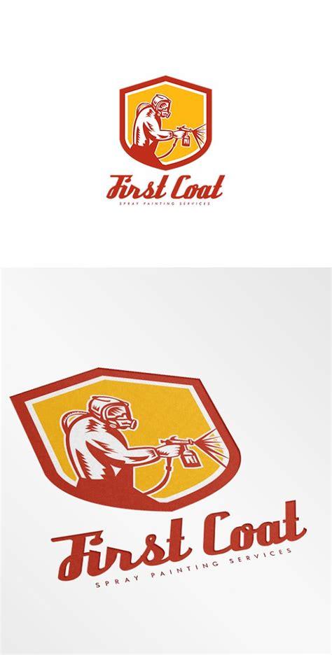 spray painter logo coat spray painting logo logo templates creative