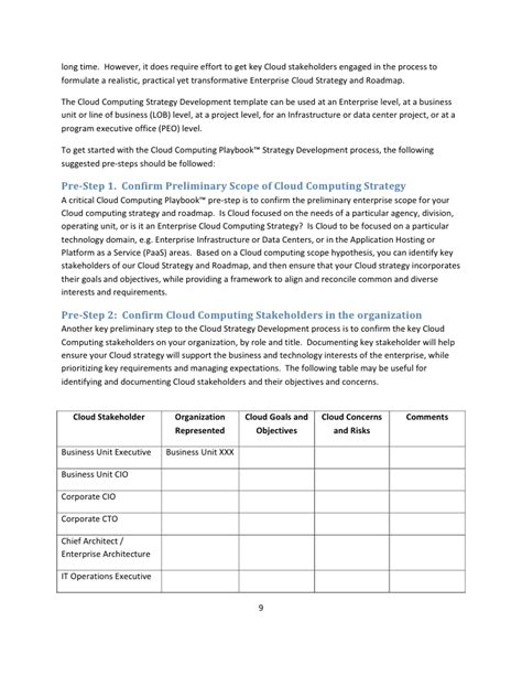 cloud policy template agilepath cloud playbook strategy template