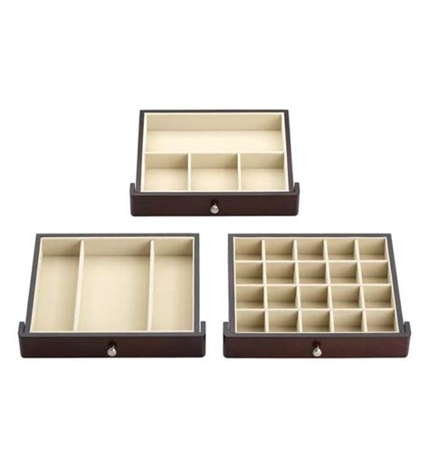 Drawer Organizers For Jewelry by 3 Drawer Mahogany Jewelry Chest In Jewelry Boxes And