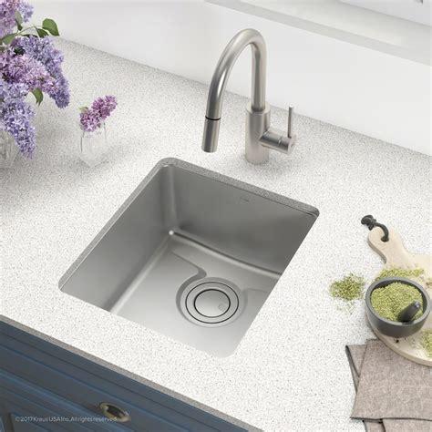 Kraus Usa Sinks by Kraus Kd1us17b 17 Inch Undermount Single Bowl Bar Sink