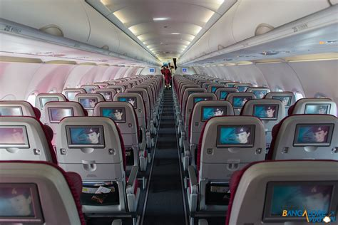 Qatar Airways Interior by Through The Lens Onboard Qatar Airways Airbus A320