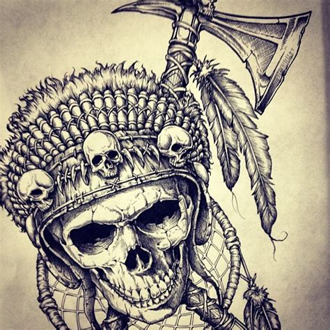 skeleton crew tattoo chief feathers skeleton crew