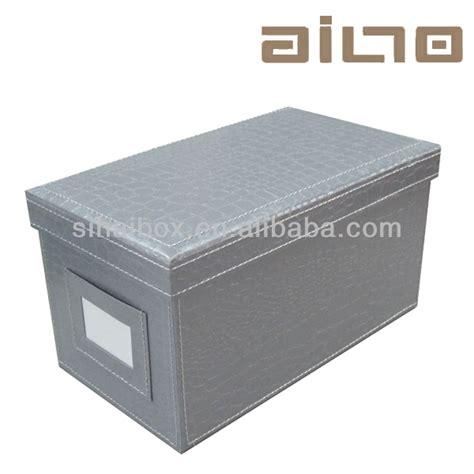 aufbewahrungsbox lederoptik desktop faux leder abgedeckt lederoptik cd dvd