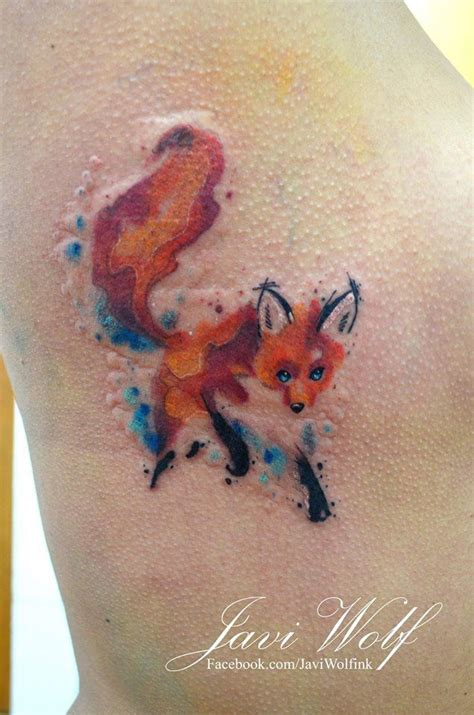 watercolor fox tattoo 17 best ideas about watercolor fox tattoos on