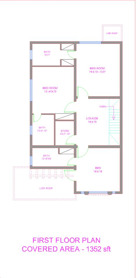 house plan map front elevation of 5 marla houses joy studio design