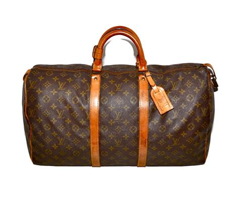 louis vuitton keepall  duffle bag luggage medium lv monogram