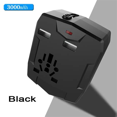 Best Universal Travel Charger Port Adaptor Adapter Colokkan Listrik Ut travel adapter with power bank with 2 usb usb travel