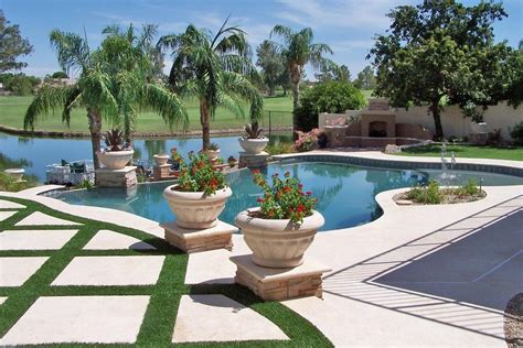 Backyard Pools In Arizona Arizona Landscape Swimming Pool From Unique Custom Pools