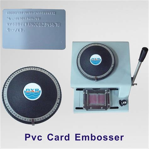 embossing tools for card plastic card embossing machine