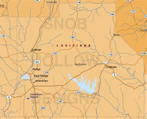 jackson louisiana map jackson parish county louisiana color map