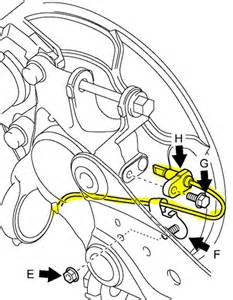 rav4 where is the right rear speed sensor on a 2006 rav4