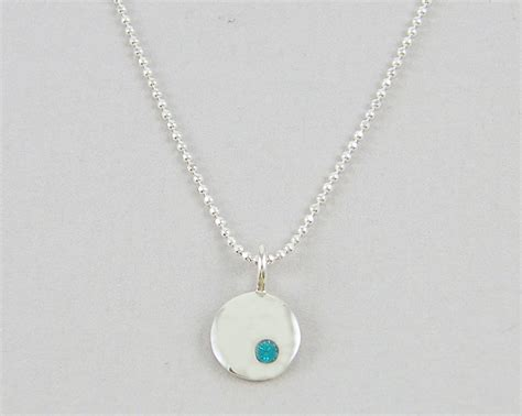 december birthstone necklace sterling by beautifulbycharlene