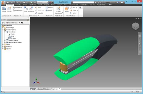 auto desk inventor student inventor 2016 and later self illuminated objects are