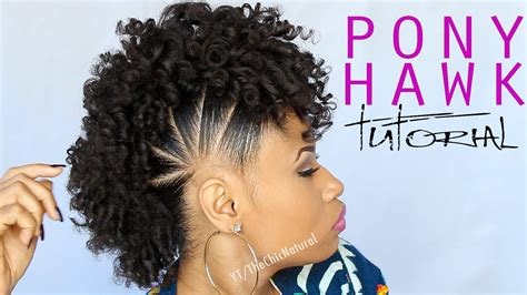 Mohawk Hairstyle For Black Tutorial by The Pony Hawk Hairstyle