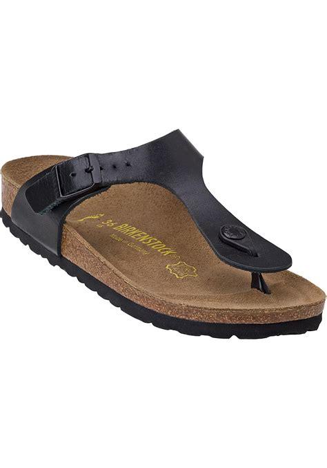 birkenstock sandals black birkenstock gizeh sandal black birko flor in black