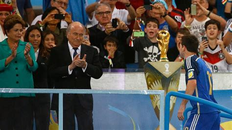 2014 world cup golden ball winner did lionel messi sepp blatter surprised at lionel messi golden ball win