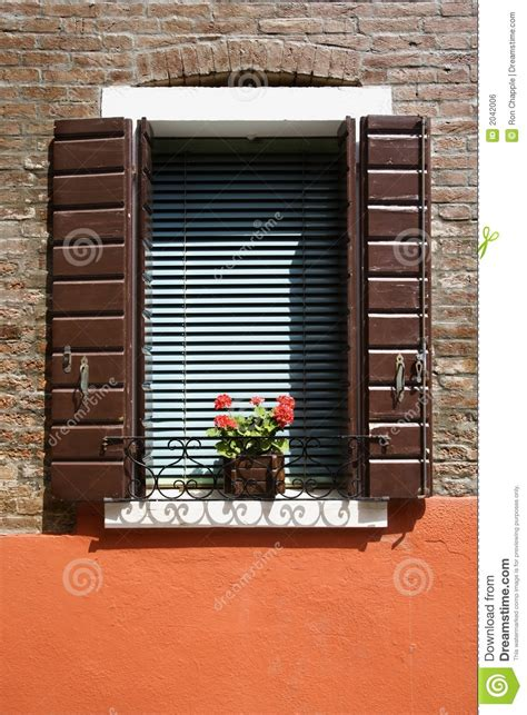 Window Sill Stock Geraniums On Window Sill Royalty Free Stock Image