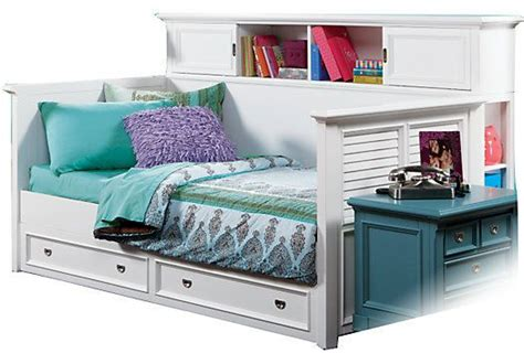 White Full Size Daybed Belmar White 4 Pc Bookcase Daybed White Daybed With Bookcase