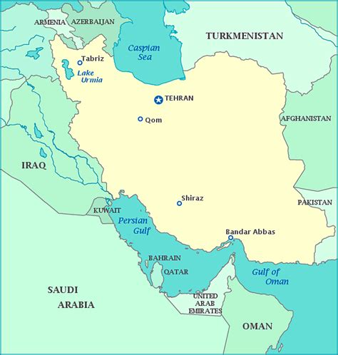 middle east map tehran map of iran