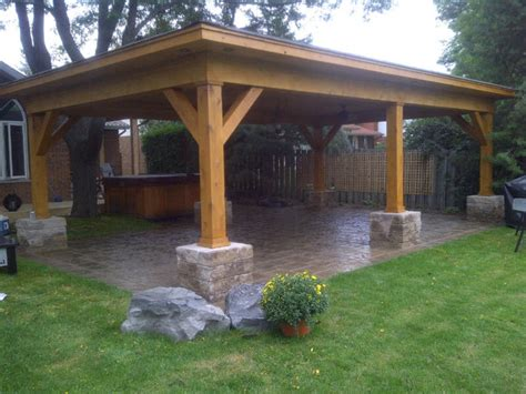 how to build a backyard patio outdoor cabana shelter