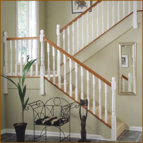 White Banister Rail by Stairparts Staircase Balustrading Stair Parts