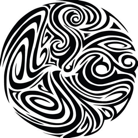 tribal circle tattoo