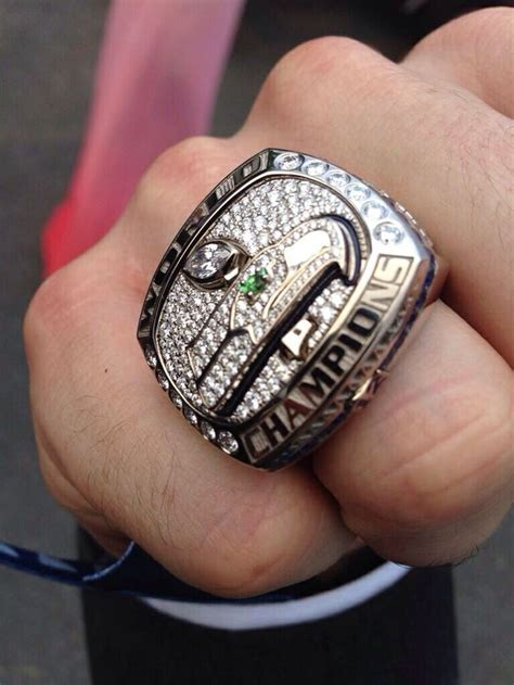 Luke Willson shows off his Super Bowl XLVIII ring, June 19