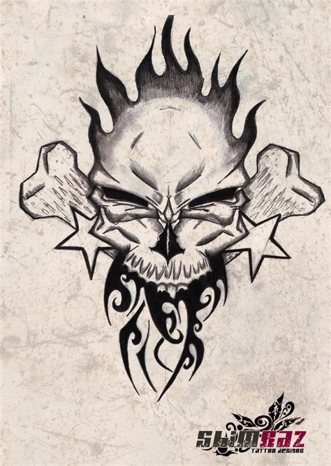 skull tattoo design 2 by gradle on deviantart