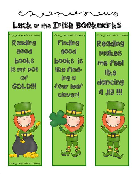 printable good luck bookmarks copycats shareable resources for teachers it s the luck