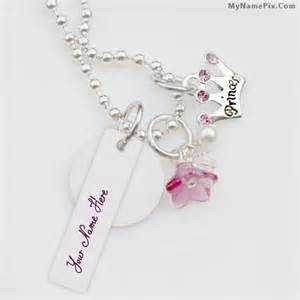 princess necklace with name