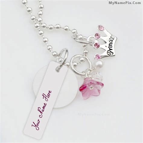 Drawing Ideas Generator princess necklace with name