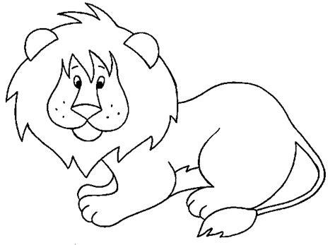 imagenes de leones para colorear image gallery leon dibujo para colorear