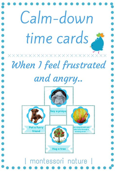 montessori printables emotions calm down cards strategies for managing anger and