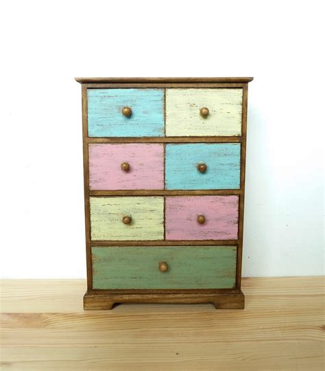 wooden tabletop cabinet chest of drawers jewelry box wood