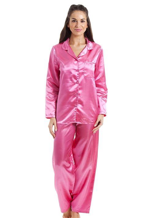 Femme Set pink satin length pyjama set
