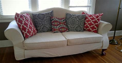 custom made slipcovers for couches custom made slipcovers camel back sofa