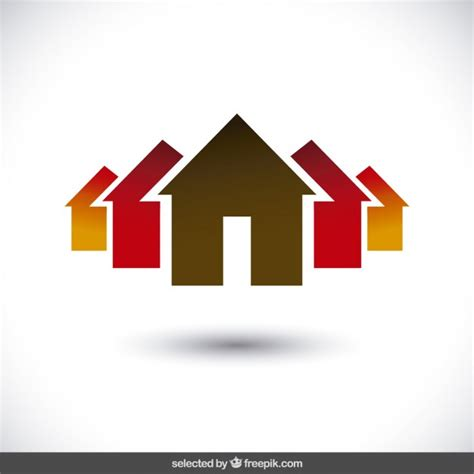 house logo design vector property logo with house silhouettes vector free
