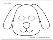 mask dog colouring pages