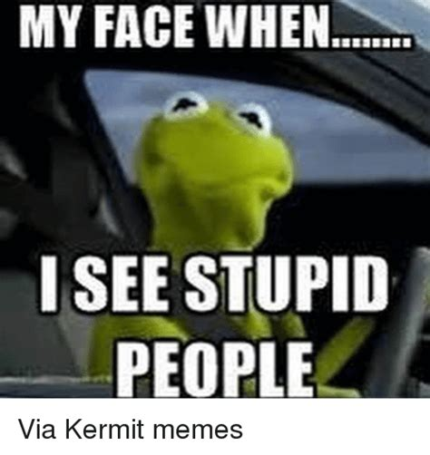 Kermit Meme My Face When - 30 i see stupid people memes that will make you feel