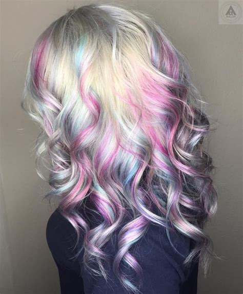 mermaid colored hair opal mermaid pastel hair hair goals cheveux