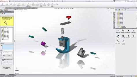 solidworks tutorial parts and assemblies image gallery solidworks exploded view