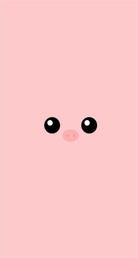 minimal pink piggy cute eyes iphone se