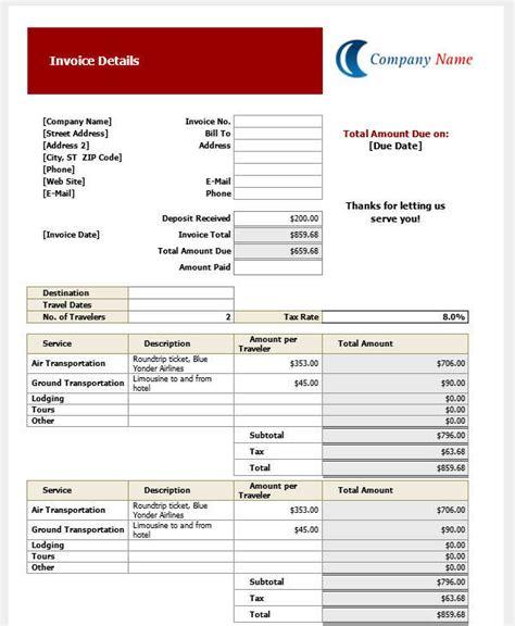 32 blank invoice templates